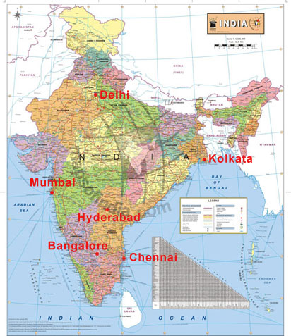 Free Map of India in Hard Copy