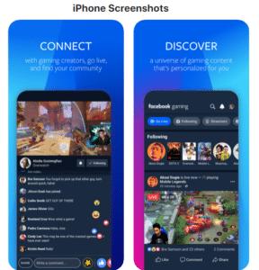 Facebook Gaming iPhone Screenshots