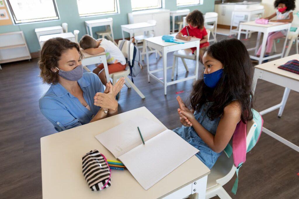 Social Distancing in Classroom
