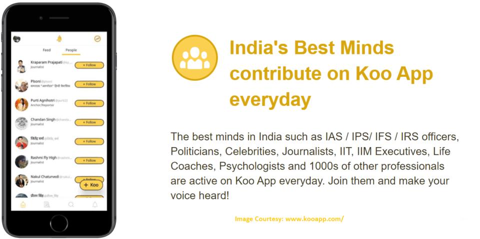 Koo Indian Twitter App Version