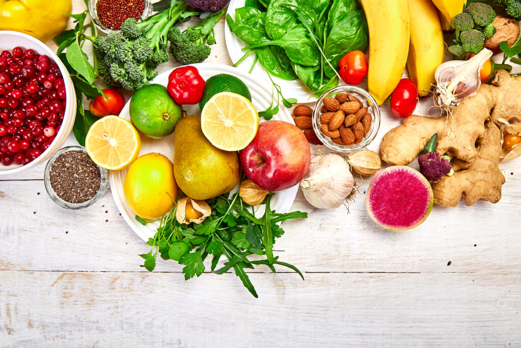 Antioxidants and iron-rich diets