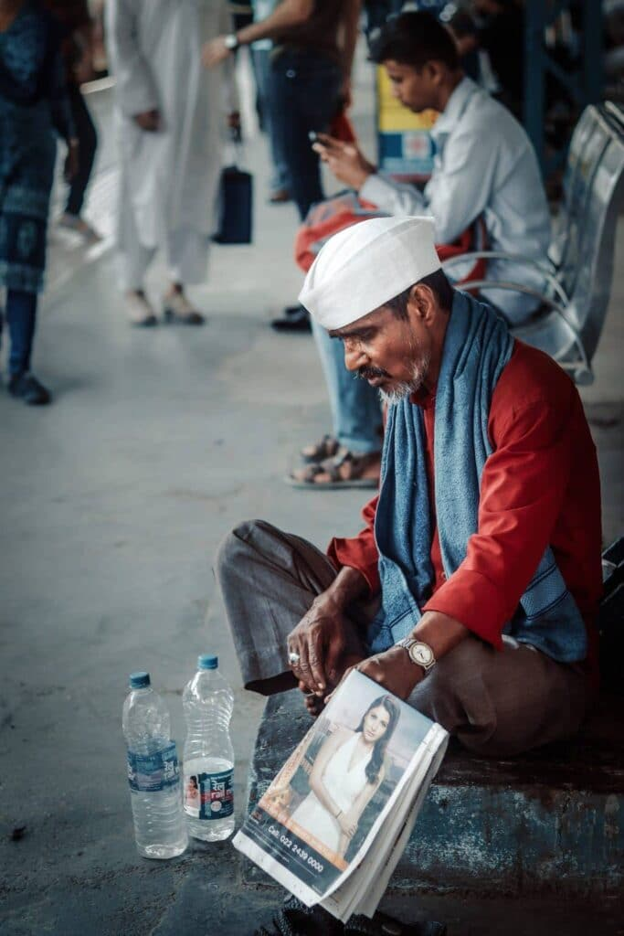 Crumpled Business of Mumbai Dabbawalas